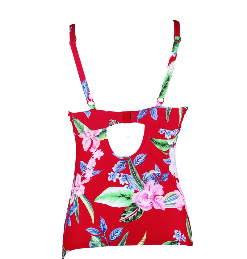 Miami Brights Underwire Tankini Red