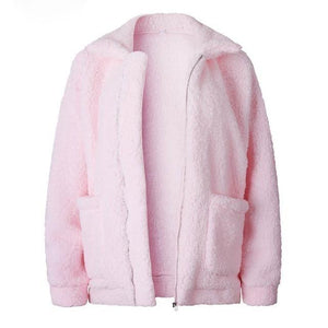 Fluffy Bomber Jacket Jacket SupprStore Red S
