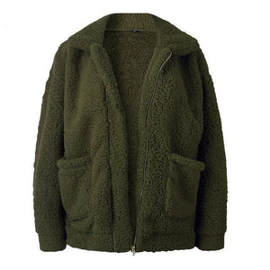 Fluffy Bomber Jacket Jacket SupprStore Green S