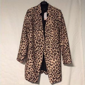 Leopard Print Winter Coat Jacket SupprStore Brown XL