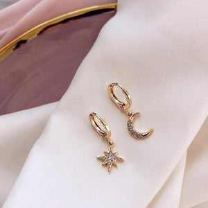Star And Moon Classic Earrings accessory SupprStore gold