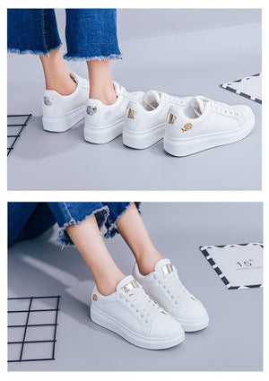 Lace-up White Sneakers Shoe SupprStore