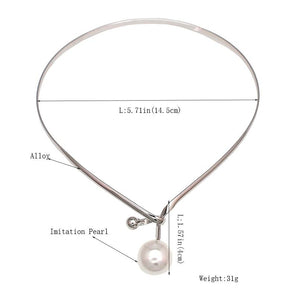 Pearl Pendants Necklace With Metal Alloy Collar Jewellery supprstore