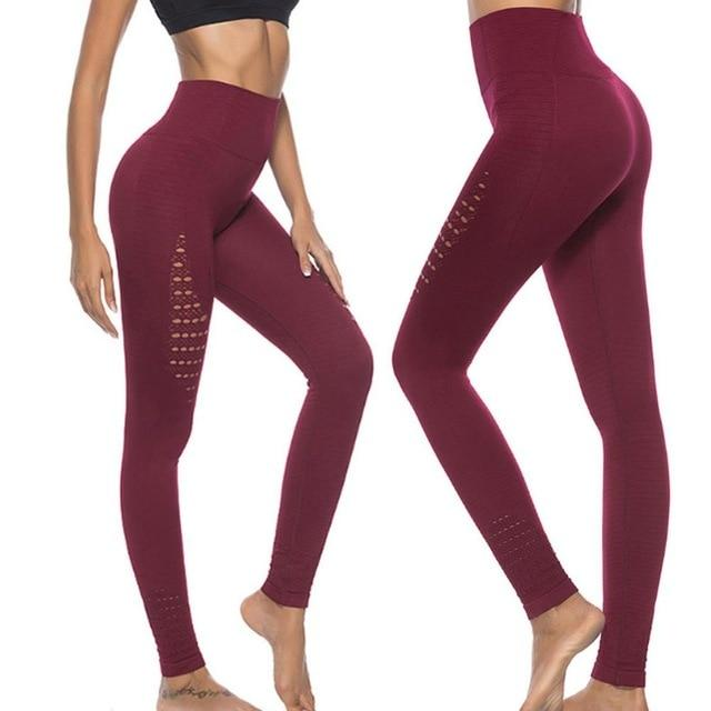 New Vital Seamless Gym/Yoga Pants Girl Yogapants supprstore Wine Red L/XL