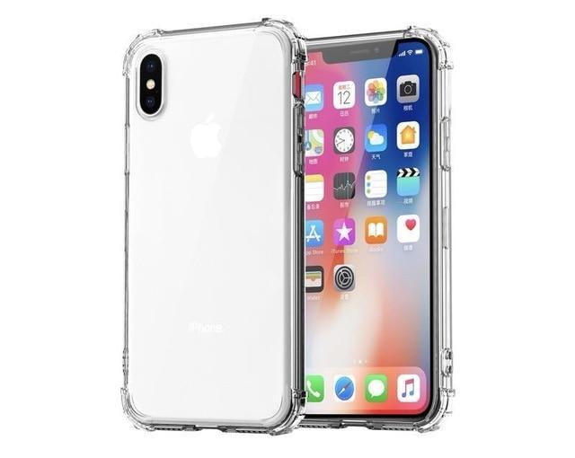 Shockproof Bumper Transparent Silicone Phone Cover For iPhone 11 X XS XR XS Max 8 (Multiple Colors) accessory SupprStore For iphone 8 Transparent