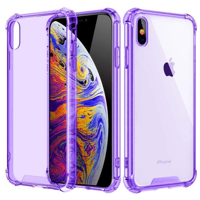 Shockproof Bumper Transparent Silicone Phone Cover For iPhone 11 X XS XR XS Max 8 (Multiple Colors) accessory SupprStore For iphone 11Pro Max T7