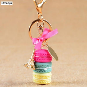 Cake/Macaron Key Chain accessory supprstore Rose