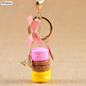 Cake/Macaron Key Chain accessory supprstore Pink