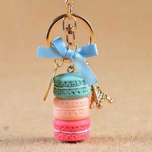 Cake/Macaron Key Chain accessory supprstore Blue