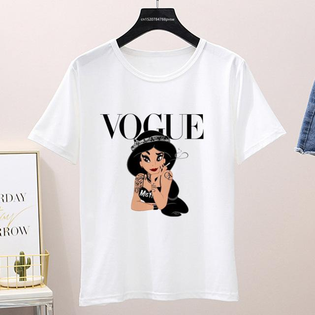 Graphic Vogue Cartoon Tee Shirt (Only White ) Top supprstore P1002-2-white L
