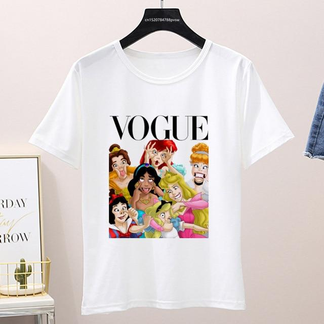 Graphic Vogue Cartoon Tee Shirt (Only White ) Top supprstore P1002-18-white L