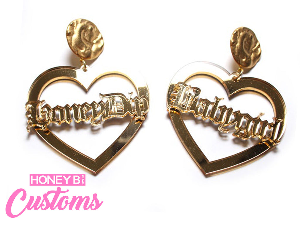 Custom Sweetheart Earrings