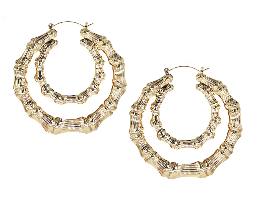 Double Up Bamboo Hoops