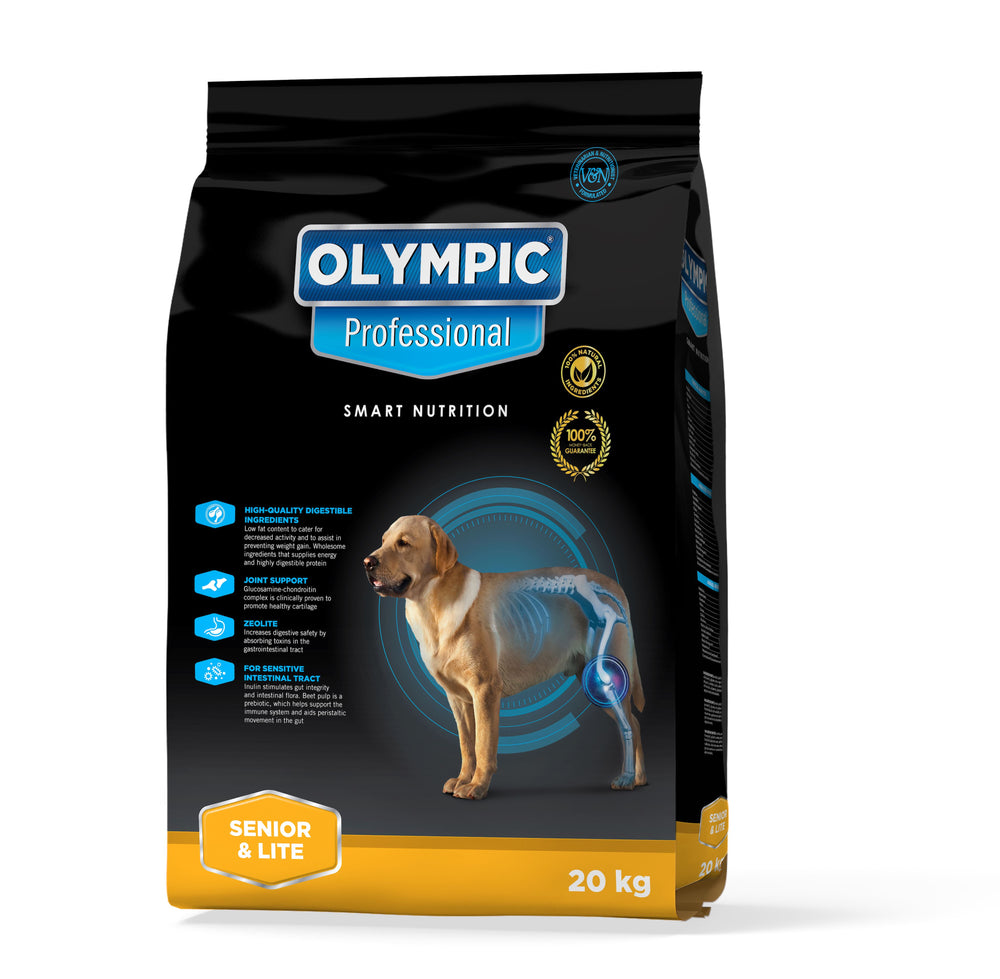 Olympic Professional Senior and Lite Dog Food Dropawf 20KG