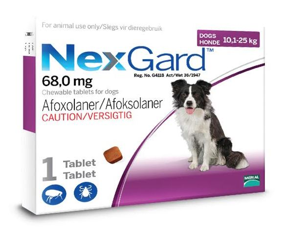 NexGard Large Dog 10-25kg Chewable Tick & Flea Tablet