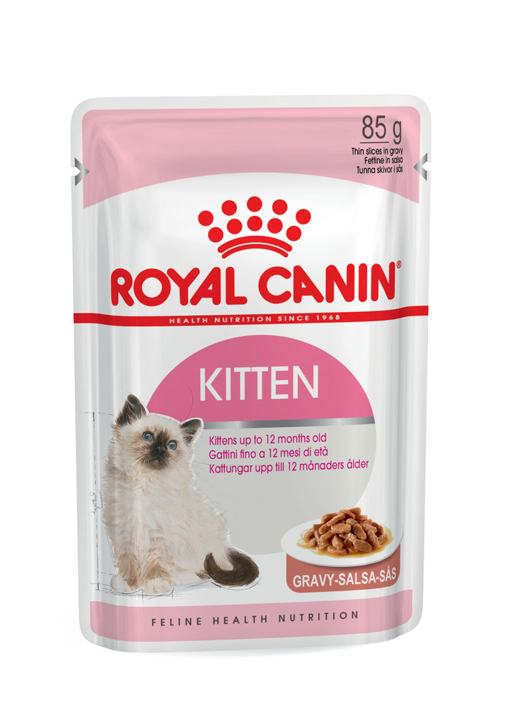 ROYAL CANIN Health Kitten Instinctive In Gravy Wet Food (12 x 85 Grams)