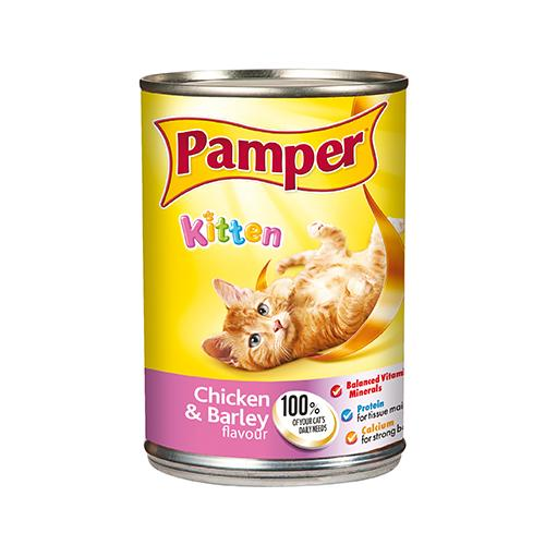 Pamper Kitten Wet Food | 4 x 400 Grams