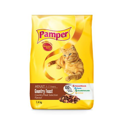 Pamper Adult Cat Food 2.9KG