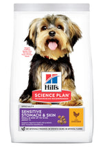 Hill's Science Plan Sensitive Stomach & Skin, Chicken & Rice, Small & Mini Adult Dog Food Dropawf