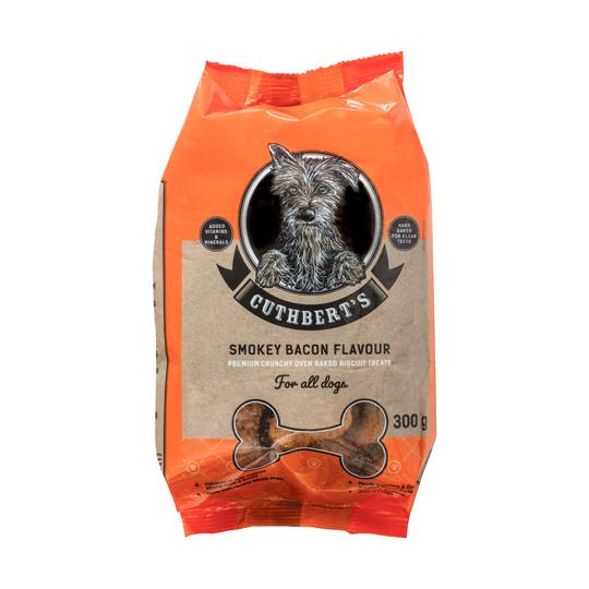 Cuthbert's Smokey Bacon Dog Biscuits 600 Grams Dropawf