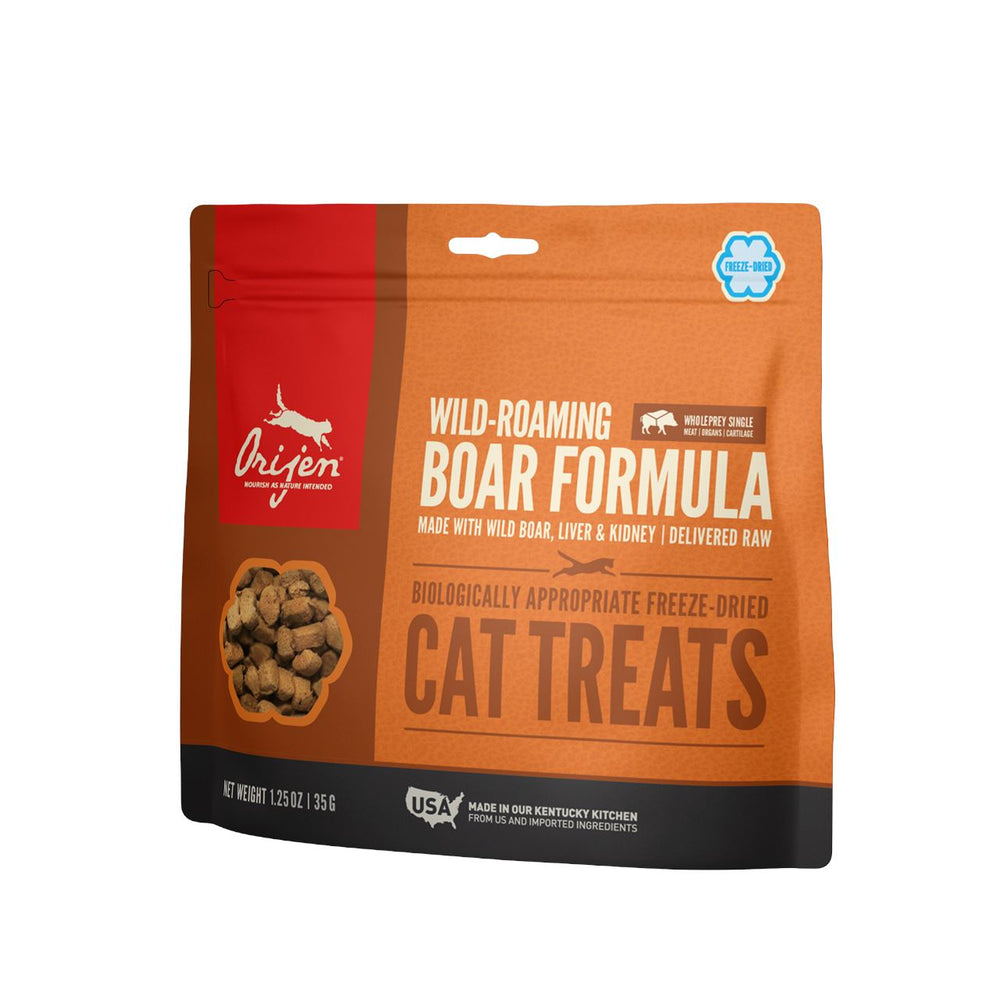 ORIJEN Freeze-Dried Wild Roaming Boar Cat Treats | 35 Grams Dropawf