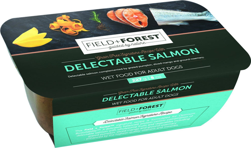 Field & Forest Salmon Adult Wet Dog Food Tubs | 8 x 228 Grams Dropawf