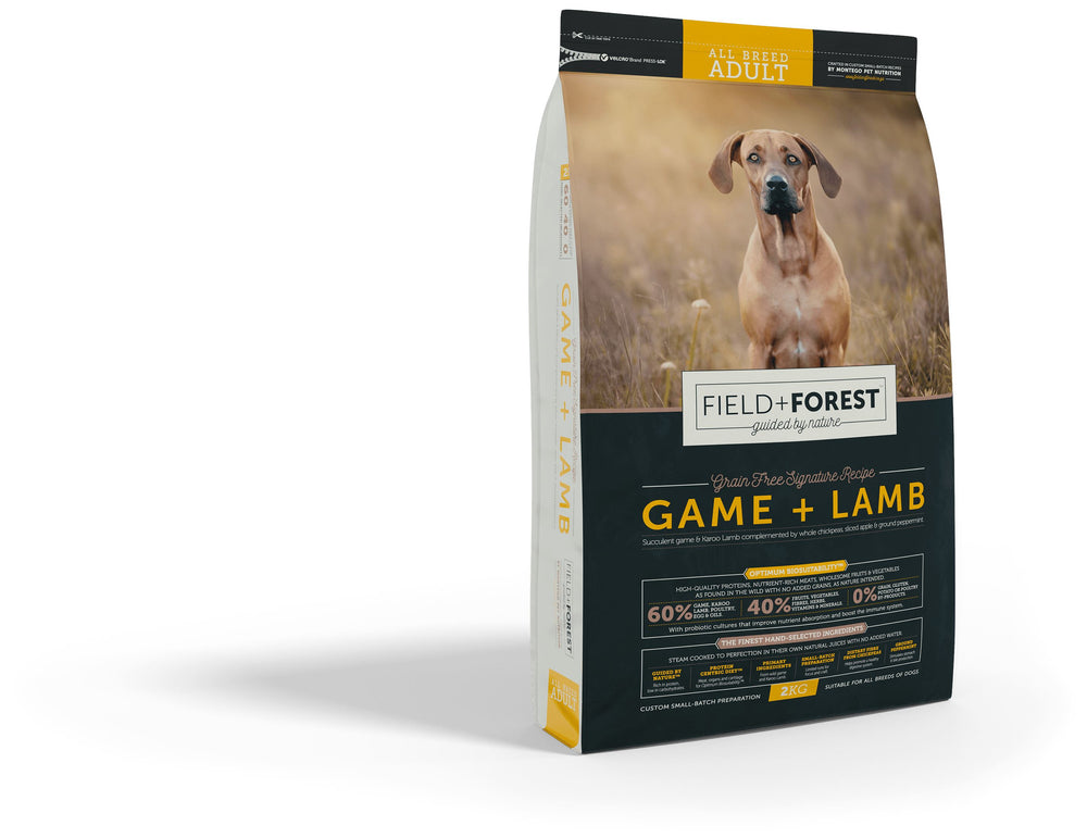Field & Forest Game and Lamb Adult Dog Food Dropawf
