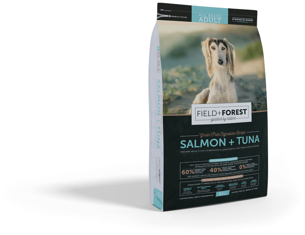 Field & Forest Salmon and Tuna Adult Dog Food Dropawf