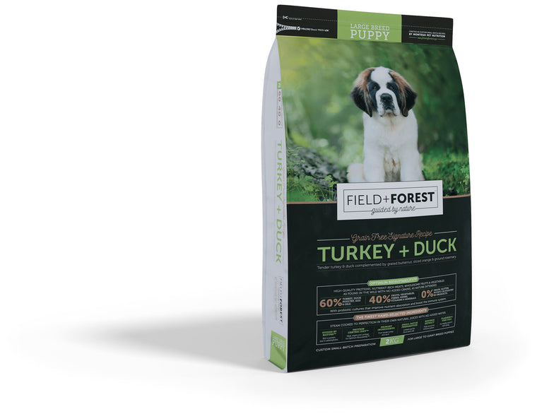 Field & Forest Turkey and Duck Large Breed Puppy Food