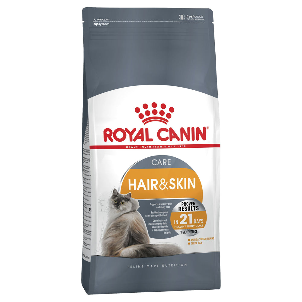 ROYAL CANIN Feline Hair & Skin Care Cat Food Dropawf