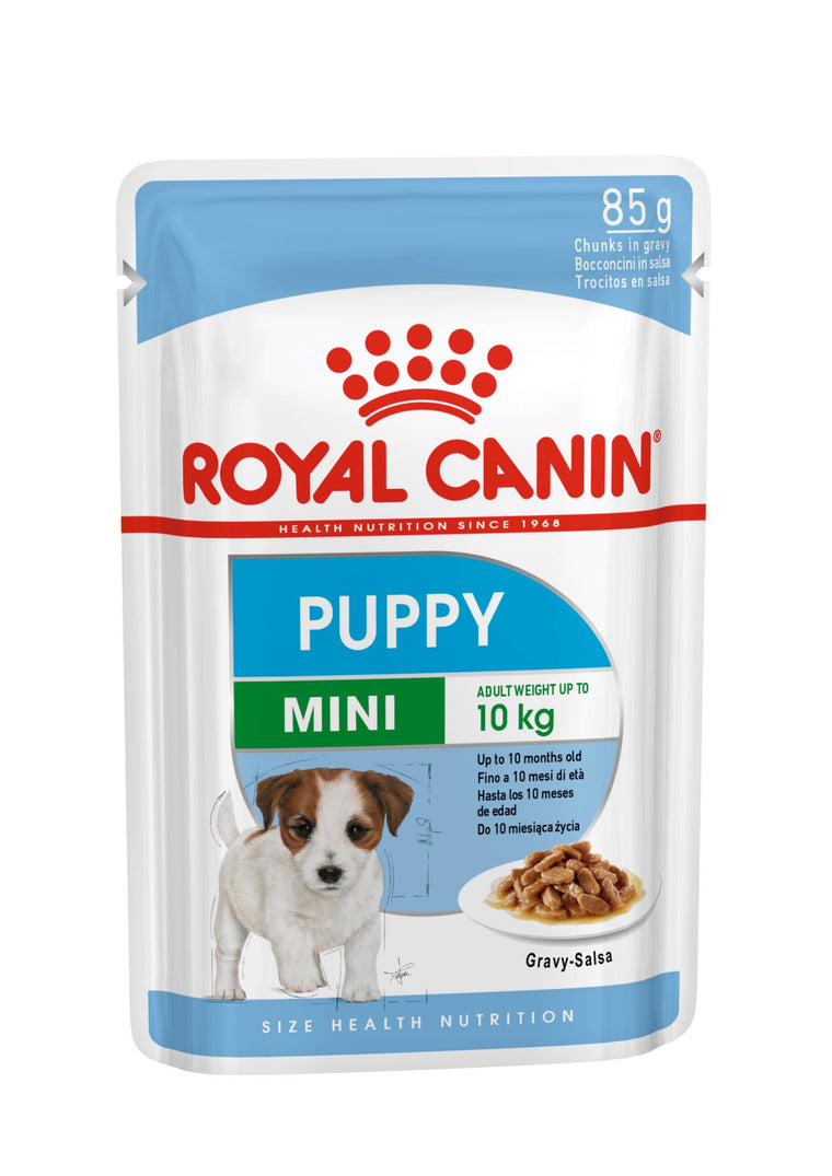 ROYAL CANIN Mini Puppy Gravy Wet Dog Food | 10 x 140 Grams