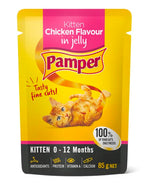 Pamper Kitten Wet Food Pouches | 8 x 85 Grams