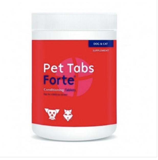 Pet Tabs Forte Dog & Cat Conditioning Tablets Dropawf