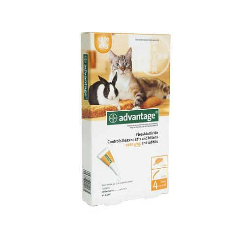 Advantage Kitten & Small Cat 0-4kg Flea Treatment