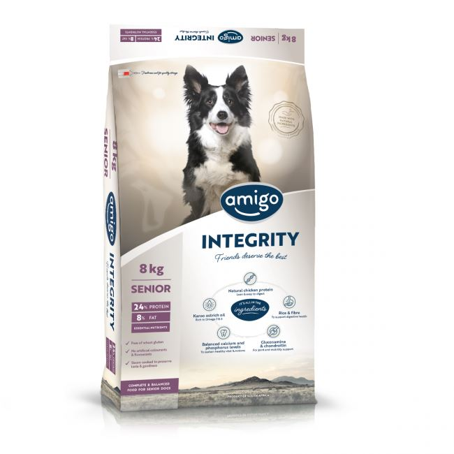 Amigo Integrity Large Senior Dog Food Dropawf