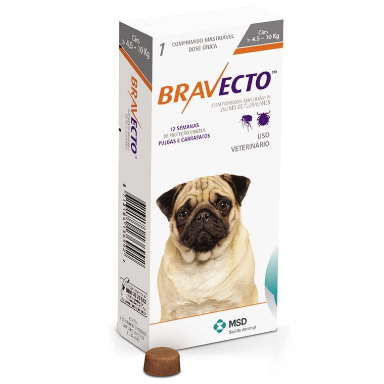 Bravecto Small Dog 4.5-10kg Chewable Tick & Flea Tablet