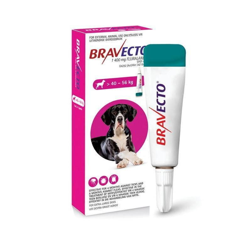 Bravecto Spot-On X-Large Dog 40-56kg Tick & Flea Treatment Dropawf