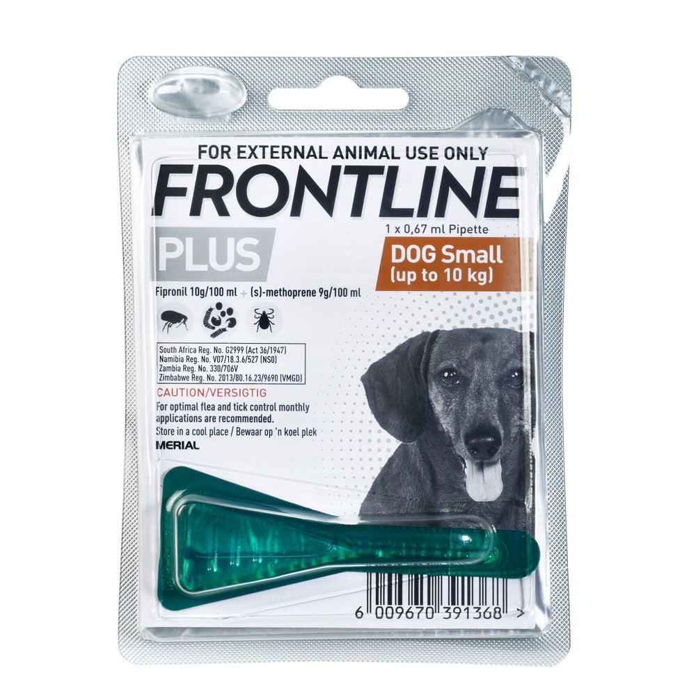 Frontline Plus Puppy & Small Dog Tick & Flea Spot-On Treatment - 0-10kg Dropawf