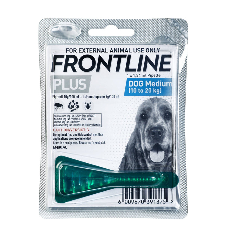 Frontline Plus Medium Dog Tick & Flea Treatment - 10-20kg