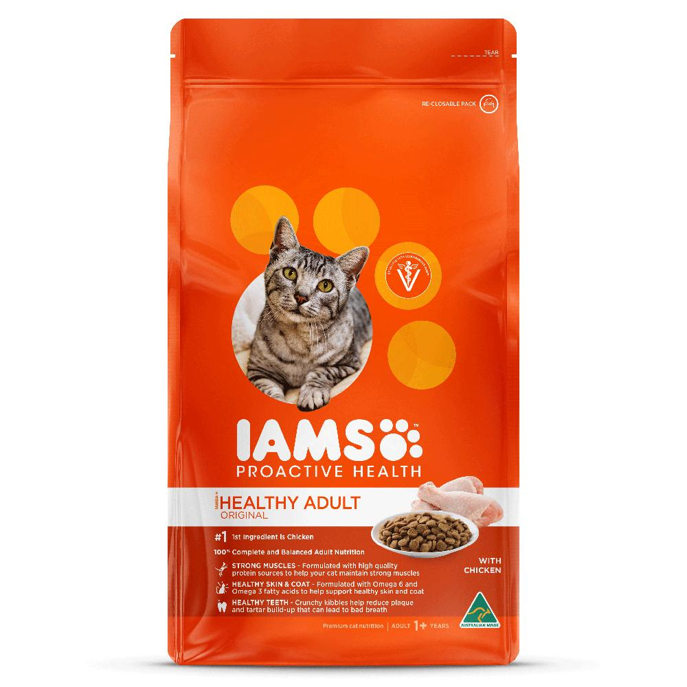 Iams Healthy Adult Original with Chicken Cat Food Dropawf