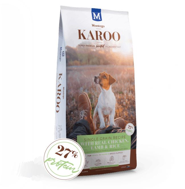 Montego Karoo Small Breed Puppy Food Dropawf