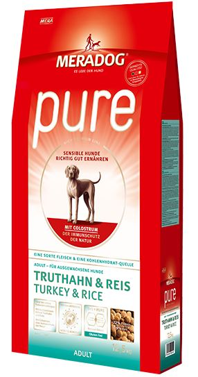Meradog Premium Pure Turkey & Rice Gluten-Free Dog Food