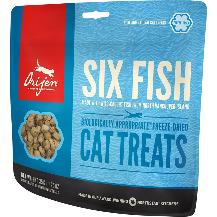 ORIJEN Freeze-Dried 6 Fish Cat Treats | 35 Grams