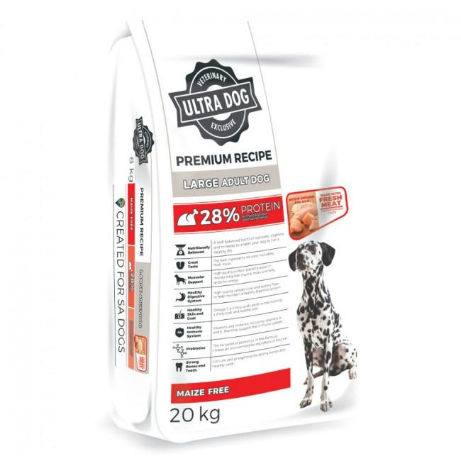Ultra Dog Premium with Chicken Large Adult Dog Food Dropawf