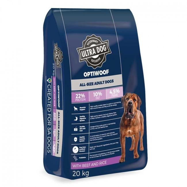 Ultra Dog OptiWoof Beef and Rice Adult Dog Food