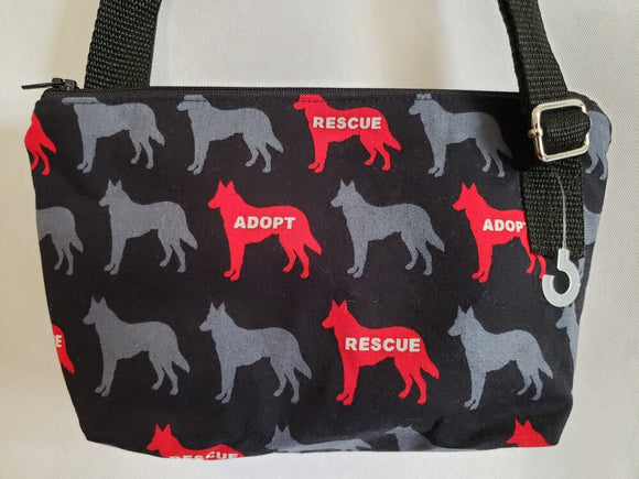 Adopt / Rescue Dog in Black Crossbody Bag