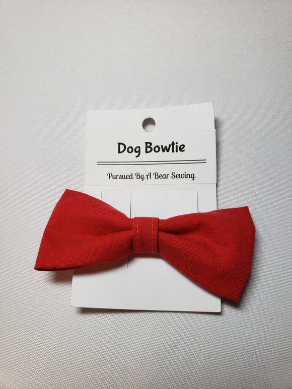 Red Over-the-Collar Pet Bowtie