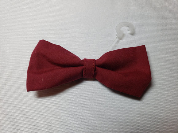 Maroon Over-the-Collar Pet Bowtie
