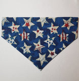 Patriotic Starry Stars & Air Force Angels Camo Over-the-Collar Pet Bandana