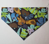 Cartoon Dog Faces Over-the-Collar Pet Bandana